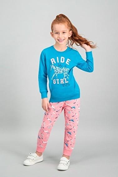 U.S. Polo Assn.  Lisanslı Grimelanj Kız Çocuk Eşofman Takımı Yeşil